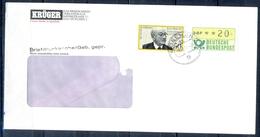 J229- Deutschland Germany Postal History Post Card. ATM Machine Label Stamp. - Machine Stamps (ATM)