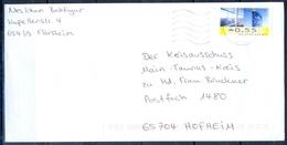 J230- Deutschland Germany Postal History Post Card. ATM Machine Label Stamp. - Machine Stamps (ATM)