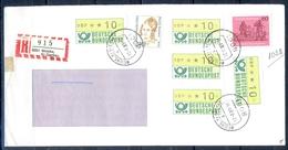 J231- Deutschland Germany Postal History Post Card. ATM Machine Label Stamp. - Machine Stamps (ATM)