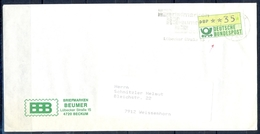 J232- Deutschland Germany Postal History Post Card. ATM Machine Label Stamp. - Machine Stamps (ATM)
