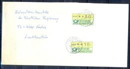 J233- Deutschland Germany Postal History Post Card. ATM Machine Label Stamp. - Machine Stamps (ATM)