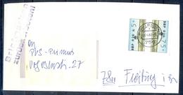 J235- Deutschland Germany Postal History Post Card. ATM Machine Label Stamp. - Machine Stamps (ATM)