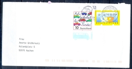 J236- Deutschland Germany Postal History Post Card. ATM Machine Label Stamp. - [6] Democratic Republic
