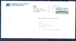 J237- Deutschland Germany Postal History Post Card. ATM Machine Label Stamp. - Machine Stamps (ATM)