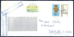 J238- Deutschland Germany Postal History Post Card. ATM Machine Label Stamp. - Machine Stamps (ATM)