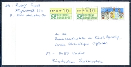 J239- Deutschland Germany Postal History Post Card. ATM Machine Label Stamp. - [6] Democratic Republic
