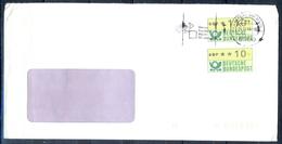 J240- Deutschland Germany Postal History Post Card. ATM Machine Label Stamp. - Machine Stamps (ATM)