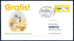 J241- Deutschland Germany Postal History Post Card. ATM Machine Label Stamp. - Machine Stamps (ATM)