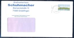 J242- Deutschland Germany Postal History Post Card. ATM Machine Label Stamp. - [6] Democratic Republic