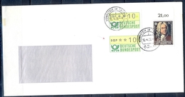 J244- Deutschland Germany Postal History Post Card. ATM Machine Label Stamp. - Machine Stamps (ATM)