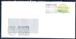 J245- Deutschland Germany Postal History Post Card. ATM Machine Label Stamp. - [6] Democratic Republic
