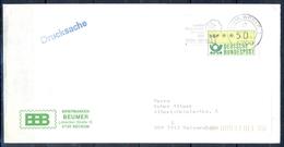 J246- Deutschland Germany Postal History Post Card. ATM Machine Label Stamp. - Machine Stamps (ATM)