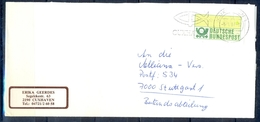 J247- Deutschland Germany Postal History Post Card. ATM Machine Label Stamp. - Machine Stamps (ATM)