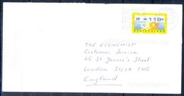 J249- Deutschland Germany Postal History Post Card. ATM Machine Label Stamp. - Machine Stamps (ATM)