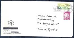 J250- Deutschland Germany Postal History Post Card. ATM Machine Label Stamp. - Machine Stamps (ATM)
