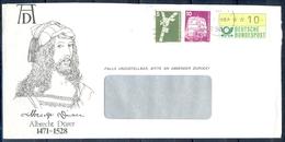 J251- Deutschland Germany Postal History Post Card. ATM Machine Label Stamp. - Machine Stamps (ATM)