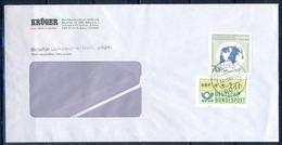 J252- Deutschland Germany Postal History Post Card. ATM Machine Label Stamp. - Machine Stamps (ATM)