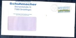 J253- Deutschland Germany Postal History Post Card. ATM Machine Label Stamp. - Machine Stamps (ATM)