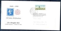 J255- Deutschland Germany Postal History Post Card. ATM Machine Label Stamp. - Machine Stamps (ATM)