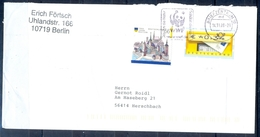 J256- Deutschland Germany Postal History Post Card. ATM Machine Label Stamp. - Machine Stamps (ATM)