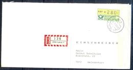J258- Deutschland Germany Postal History Post Card. ATM Machine Label Stamp. - Machine Stamps (ATM)