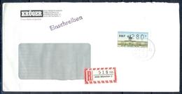 J259- Deutschland Germany Postal History Post Card. ATM Machine Label Stamp. - Machine Stamps (ATM)