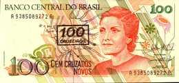 BRESIL 100 CRUZEIROS  De 1990nd  Pick 224b UNC/NEUF - Brésil
