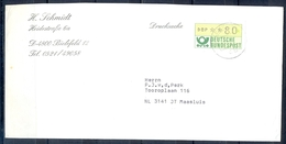 J261- Deutschland Germany Postal History Post Card. ATM Machine Label Stamp. - Machine Stamps (ATM)