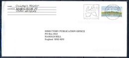 J262- Deutschland Germany Postal History Post Card. ATM Machine Label Stamp. - Machine Stamps (ATM)