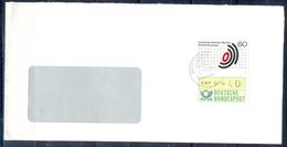 J263- Deutschland Germany Postal History Post Card. ATM Machine Label Stamp. - Machine Stamps (ATM)