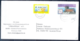 J264- Deutschland Germany Postal History Post Card. ATM Machine Label Stamp. - Machine Stamps (ATM)