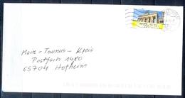 J266- Deutschland Germany Postal History Post Card. ATM Machine Label Stamp. - Machine Stamps (ATM)