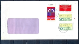 J269- Deutschland Germany Postal History Post Card. ATM Machine Label Stamp. - [6] Democratic Republic