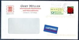 J272- Deutschland Germany Postal History Post Card. ATM Machine Label Stamp. - Machine Stamps (ATM)