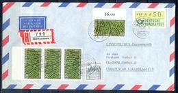 J273- Deutschland Germany Postal History Post Card. ATM Machine Label Stamp. - [6] Democratic Republic