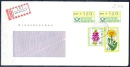 J275- Deutschland Germany Postal History Post Card. ATM Machine Label Stamp. - Machine Stamps (ATM)