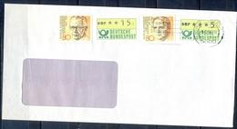 J276- Deutschland Germany Postal History Post Card. ATM Machine Label Stamp. - [6] Democratic Republic
