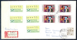 J277- Deutschland Germany Postal History Post Card. ATM Machine Label Stamp. - Machine Stamps (ATM)