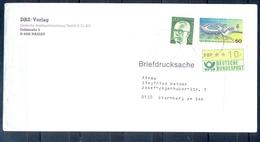 J278- Deutschland Germany Postal History Post Card. ATM Machine Label Stamp. - Machine Stamps (ATM)