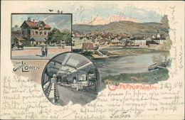 AK Stuttgart Untertürkheim, Gasthof Zum Löwen, O 1904 (18166) - Stuttgart