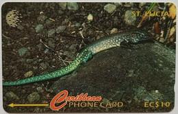 St Lucia Phonecard EC$10 Whip Tail Lizard 137CSLA - Saint Lucia