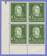 GER SC #689 MNH B4  1952 Martin Luther, CV $48.00 - [7] Federal Republic