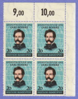 GER SC #691 MNH B4  1952 Carl Schurz, CV $64.00 - [7] Federal Republic