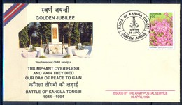 J298- India 1994. Golden Jubilee Battle Of Kangla Tongbi. - Covers & Documents
