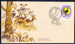 J309- India 1983. Bombay Natural History Society, Hornbill. Bird. - India