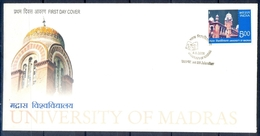 J316- India 2006. 150 Years Of University Of Madras. Education, Knowledge, Public Research Institution. - Covers & Documents
