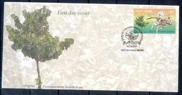 J321- India 2009. Pterospermum Acerifolium, Karnikara Tree, Flower, Ulcers, Blood Disese, Tumor. - Covers & Documents