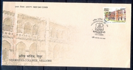 J324- India 2006. Voorhees College, Vellore, Education, Knowledge, Christian Missionary School. - Covers & Documents