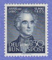 GER SC #695 MNH  1953 Justus Von Liebig, Chemist, CV $40.00 - [7] Federal Republic