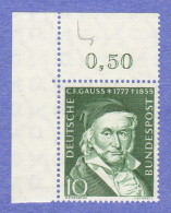 GER SC #725 MNH  1955 Carl Gauss, Mathematician, CV $4.50 - Unused Stamps